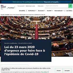 Loi d'urgence pour faire face à l'épidémie de Covid-19