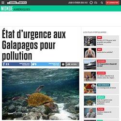 État d'urgence aux Galapagos pour pollution