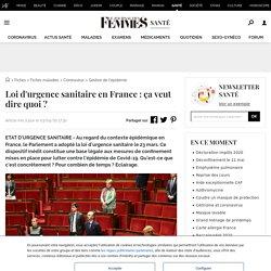 Loi d'urgence sanitaire en France: ça veut dire quoi?