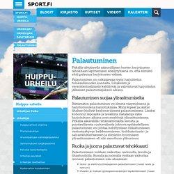 Huippu-urheilu - Urheilijat - Urheilijan ravitsemus - Palautuminen - Sport.fi
