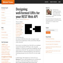 URI design on your REST Web API - Michel Triana
