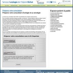 Préparer votre consultation d'urologie
