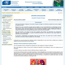 Lithotritie extracorporelle Association Française d'Urologie Fiches d'information patient