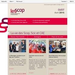 URSCOP Ouest - Newsletter #2 - avril 2015