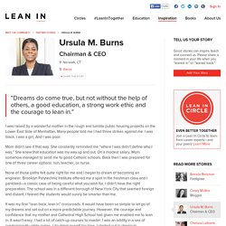 Ursula M. Burns shares her Lean In story.