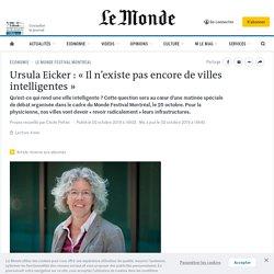 Ursula Eicker: «Il n'existe pas encore de villes intelligentes»