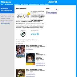 UNICEF Uruguay - Prensa y comunicación - Agencia Voz y Vos