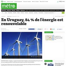 En Uruguay, 84 % de l'énergie est renouvelable