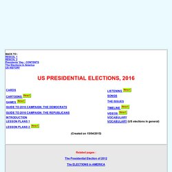 US ELECTIONS in 2016