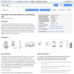 Patente US20100078010 - Insertable Thermotic Module for Self-Heating Can - Google Patentes