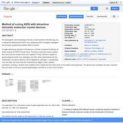 Method of curing AIDS with ... - Google Patents