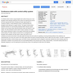 Patent US6327983 - Conference table with central utility system - Google Patents