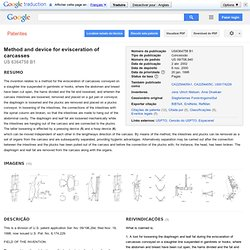 PATENTS - Method and device for evisceration of carcasses