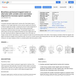 Brushless permanent magnet motor or ... - Google Patents
