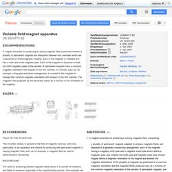 Variable field magnet apparatus - Google Patents