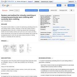 특허 US7356489 - System and method for virtually matching or comparing previously worn ... - Google 특허 검색