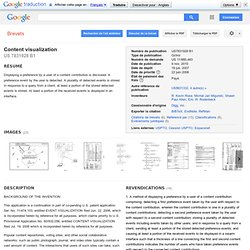 Content visualization - Google Patents
