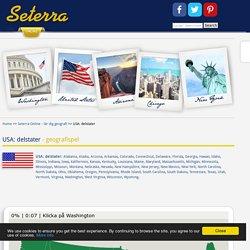 USA: delstater - geografispel