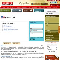 USA H1B Visa Guidance