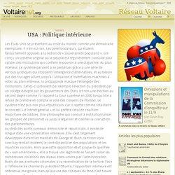 USA : Politique intérieure
