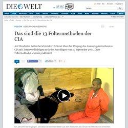 USA: Das sind die 13 Foltermethoden des CIA