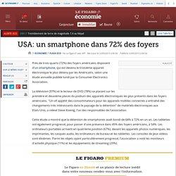 USA: un smartphone dans 72% des foyers