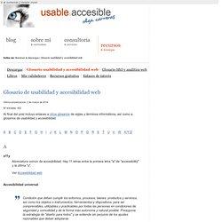 Glosario de usabilidad y la accesibilidad web