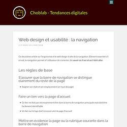 Web design et usabilité : la navigation