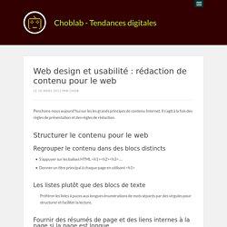 Web design et usabilité : rédaction de contenu pour le web