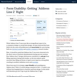 Form Usability: Getting 'Address Line 2' Right