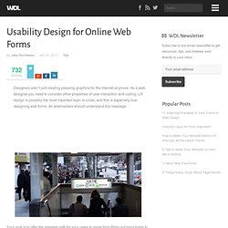 Usability Design for Online Web Forms