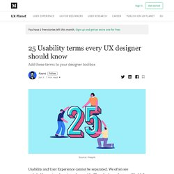 25 Usability terms every UX designer should know
