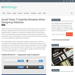 Avoid These 7 Usability Mistakes When Designing Websites
