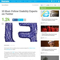 10 Must-Follow Usability Experts on Twitter