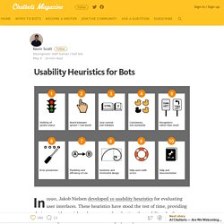 Usability Heuristics for Bots