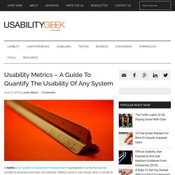 Usability Metrics - A Guide To Quantify The Usability Of Any System