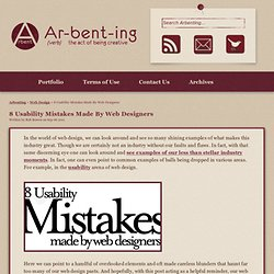 8 Usability Mistakes Made By Web Designers | Arbenting