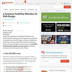 9 Common Usability Mistakes In Web Design | How-To | Smashing Magazine