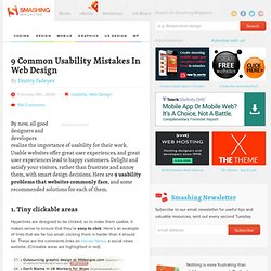 9 Common Usability Mistakes In Web Design | How-To