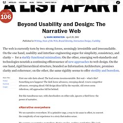 Beyond Usability and Design: The Narrative Web