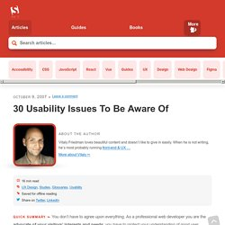 10 Usability Nightmares You Should Be Aware Of - Smashing Magazine