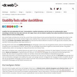 Usability-Tests selber durchführen
