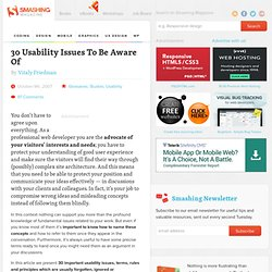 30 Usability Issues To Be Aware Of - Smashing Magazine