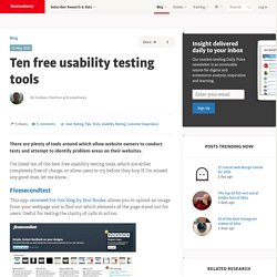 Ten free usability testing tools