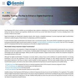 Usability Testing: The Key to Enhance Digital Experience