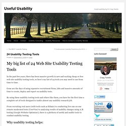 24 Usability Testing Tools