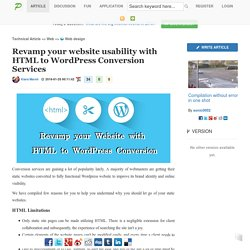 Revamp your website usability with HTML to WordPress Conversion Services