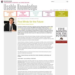Usable Knowledge: Five Minds for the Future