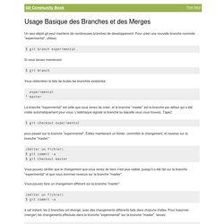 Git Book - Usage Basique des Branches et des Merges