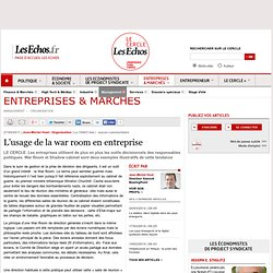 L'usage de la war room en entreprise